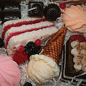 Косметика ручной работы. Ярмарка Мастеров - ручная работа Сладкая жизнь - набор мыла ручной работы. Handmade.
