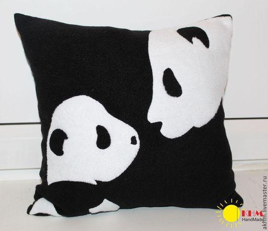 Текстиль, ковры ручной работы. Ярмарка Мастеров - ручная работа. Купить Подушка Панды. Handmade. Чёрно-белый, панда, медведь
