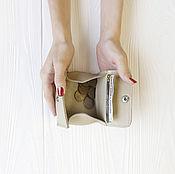 """Кошельки ручной работы. Ярмарка Мастеров - ручная работа Мини-кошелёк """"Молочный"""". Handmade."""