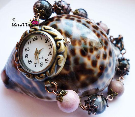 """Часы ручной работы. Ярмарка Мастеров - ручная работа. Купить Часы """"Маленькая Тайна Осени """". Handmade. Коричневый, родонит"""