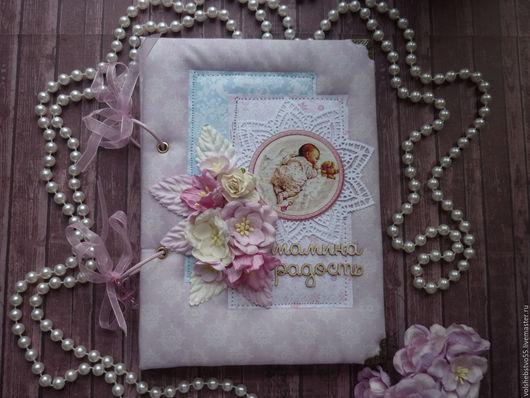 """Блокноты ручной работы. Ярмарка Мастеров - ручная работа. Купить Дневник Мамины заметки - беби бук """"Мамина радость"""". Handmade."""