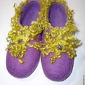 Обувь ручной работы. Ярмарка Мастеров - ручная работа Тапочки войлочные Гламур. Handmade.