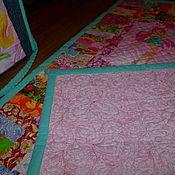 Для дома и интерьера ручной работы. Ярмарка Мастеров - ручная работа Лоскутный коврик для занятий танцами. Handmade.
