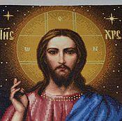 Картины и панно ручной работы. Ярмарка Мастеров - ручная работа образ Благословляющий Христос. Handmade.