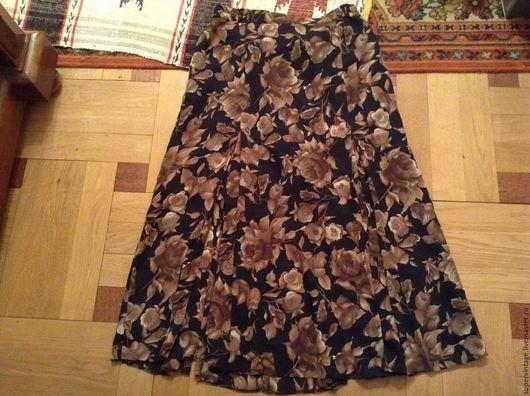 Одежда. Ярмарка Мастеров - ручная работа. Купить BARUCH юбка КОРИЧНЕВЫЕ РОЗЫ, Новая. Handmade. Комбинированный, винтажная юбка