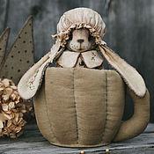 Куклы и игрушки ручной работы. Ярмарка Мастеров - ручная работа Зайка в чашке.. Handmade.