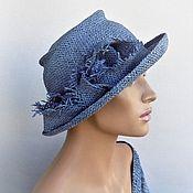 Аксессуары handmade. Livemaster - original item Hat Sloudless sky. Handmade.