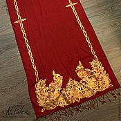 Аксессуары handmade. Livemaster - original item Painting on fabric. Tippet
