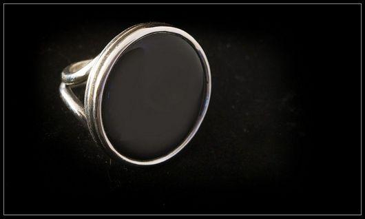 Кольца ручной работы. Ярмарка Мастеров - ручная работа. Купить кольцо Черный агат.. Handmade. Кольцо с агатом черным, черный