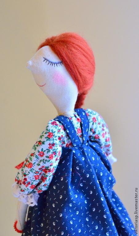 Коллекционные куклы ручной работы. Ярмарка Мастеров - ручная работа. Купить кукла в сарафане. Handmade. Кукла в подарок, московкина виктория