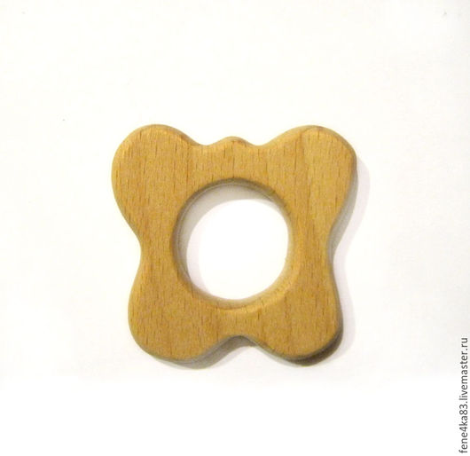 """Развивающие игрушки ручной работы. Ярмарка Мастеров - ручная работа. Купить Грызунок деревянный """"Бабочка"""". Handmade. Грызунок, грызунок деревянный"""