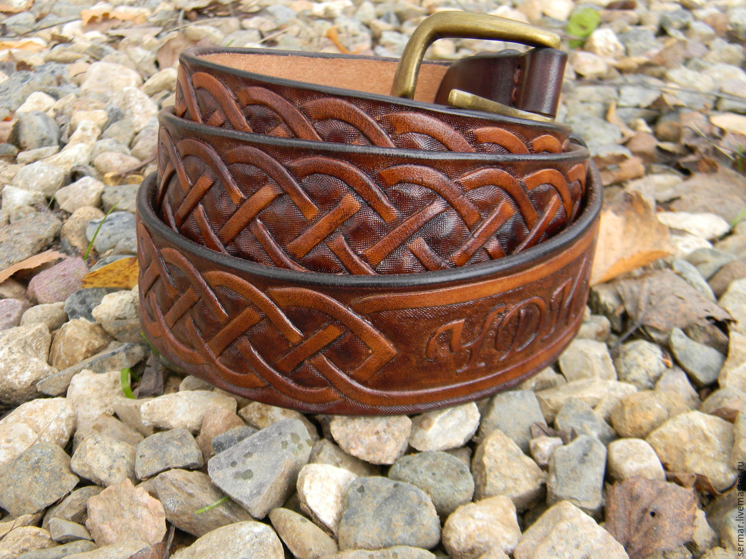 Men's belt,leather,for jeans, Straps, Kineshma,  Фото №1