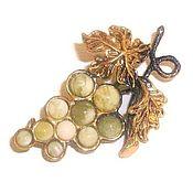 Украшения handmade. Livemaster - original item Grape brooch decoration gift for women white gold color. Handmade.