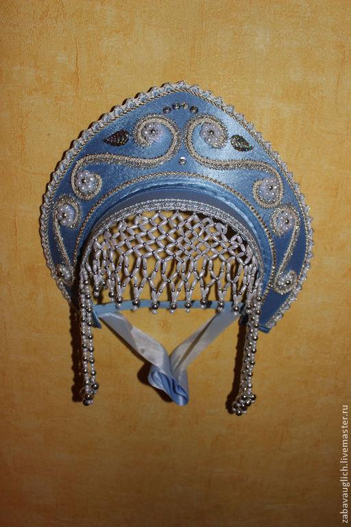 голубой с серебром