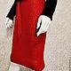 """Юбки ручной работы. Ярмарка Мастеров - ручная работа. Купить Вязаная  юбка-карандаш """"Чили"""". Handmade. Юбка, меринос 100%"""