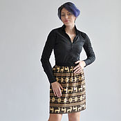 Одежда handmade. Livemaster - original item The skirt is a Scandinavian deer. Handmade.