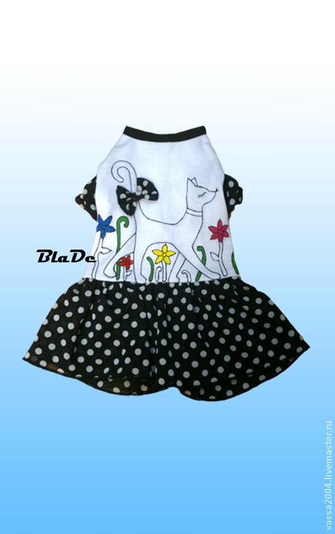 Одежда для собак, ручной работы. Ярмарка Мастеров - ручная работа. Купить Платье. Handmade. Одежда на заказ, питомец, принт