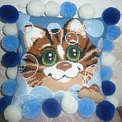 Для дома и интерьера ручной работы. Ярмарка Мастеров - ручная работа Детская подушка Кот в пузырях. Handmade.