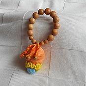 """Куклы и игрушки ручной работы. Ярмарка Мастеров - ручная работа Грызунок - погремушка """" Оранж"""". Handmade."""