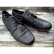 Обувь ручной работы handmade. Livemaster - original item Boots men`s genuine Python skin. Handmade.