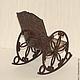 """Кукольный дом ручной работы. Кресло-качалка """"Птички"""". Irene Gromi (Teddy Art Boutique). Ярмарка Мастеров."""