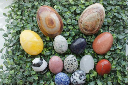 Обереги, талисманы, амулеты ручной работы. Ярмарка Мастеров - ручная работа. Купить Яйца из камня в ассортименте. Handmade. Разноцветный, янтарь