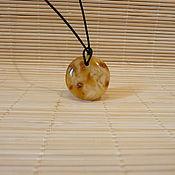 Украшения handmade. Livemaster - original item Pukh amber pendant K-712. Handmade.