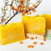 Косметика ручной работы handmade. Livemaster - original item Handmade natural soap from scratch Solar berry sea buckthorn. Handmade.