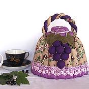 Посуда handmade. Livemaster - original item Hot water bottle for the kettle Isabella. Lilac, purple, kitchen decoration. Handmade.