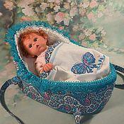 Куклы и игрушки handmade. Livemaster - original item Cradle - carrying for mini dolls .. Handmade.