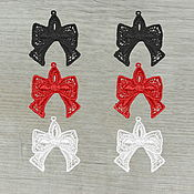 Материалы для творчества handmade. Livemaster - original item Pendants for jewelry Bows embroidered appliques. Handmade.