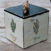 Для дома и интерьера ручной работы. Ярмарка Мастеров - ручная работа короб травы листья Прованса флора. Handmade.