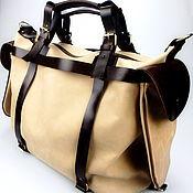 Сумки и аксессуары handmade. Livemaster - original item Travel bag: large leather bag, wild Journey leather bag. Handmade.