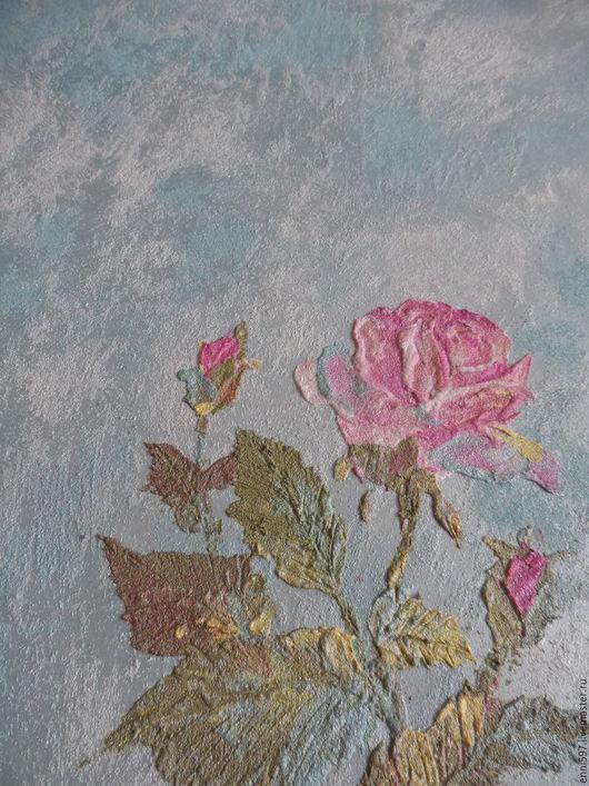 Картины цветов ручной работы. Ярмарка Мастеров - ручная работа. Купить декоративная отделка стен. Handmade. Комбинированный, декоративная штукатурка