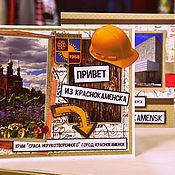 Открытки ручной работы. Ярмарка Мастеров - ручная работа Сувенирная открытка. Handmade.