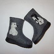 """Обувь ручной работы. Ярмарка Мастеров - ручная работа Валенки детские """"Медвежонок Умка"""". Handmade."""