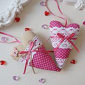 Куклы и игрушки ручной работы. Ярмарка Мастеров - ручная работа Ярко-розовое сердце-тильда. Handmade.