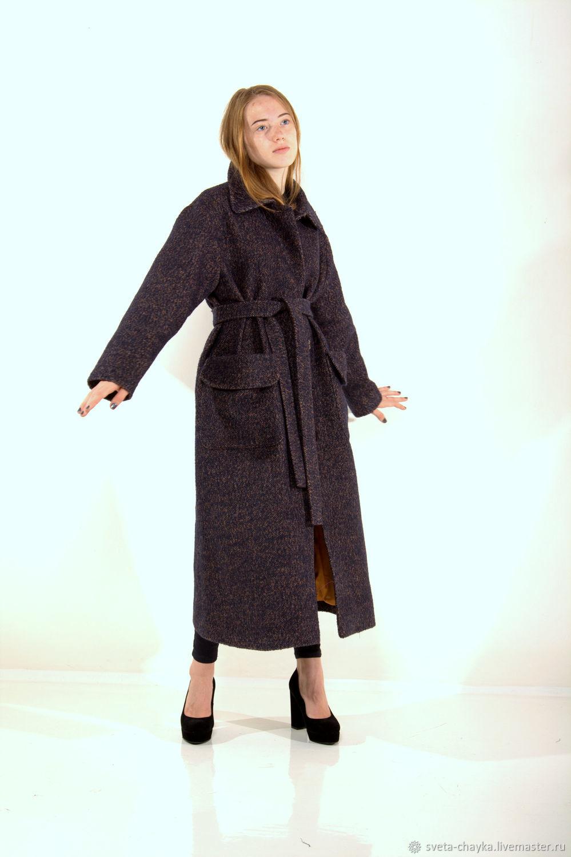 32cb3a6c815 Верхняя одежда ручной работы. Ярмарка Мастеров - ручная работа. Купить  Пальто шерстяное CHASTO фиолетовое ...