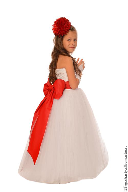 """Одежда для девочек, ручной работы. Ярмарка Мастеров - ручная работа. Купить платье для девочки """"Модная штучка"""". Handmade. Белый"""