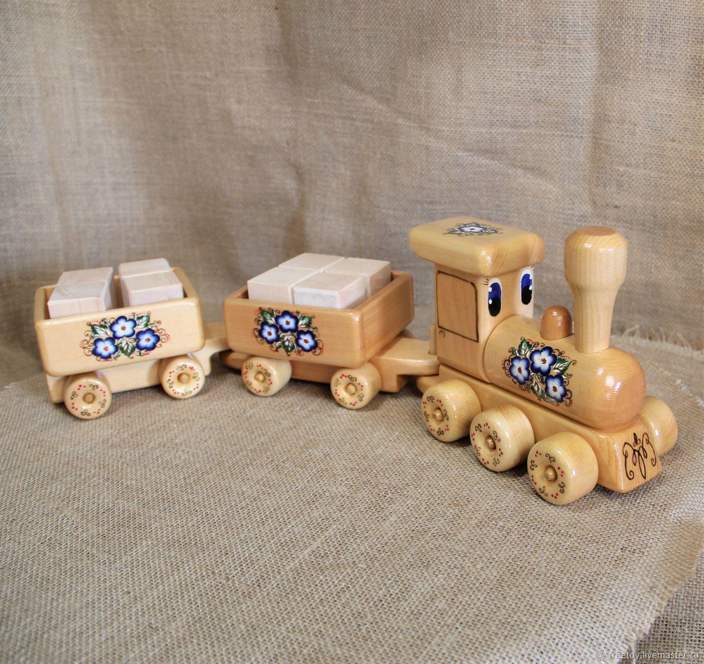 Деревянный Паровозик 20 Деревянная игрушка, Сувениры, Черемшанка, Фото №1