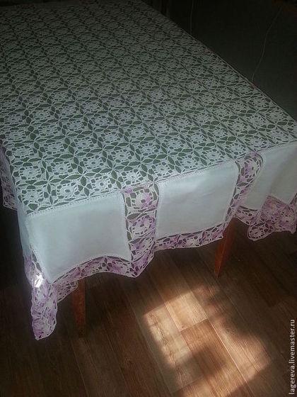 Винтаж ручной работы. Ярмарка Мастеров - ручная работа винтажная вязаная скатерть. Handmade.