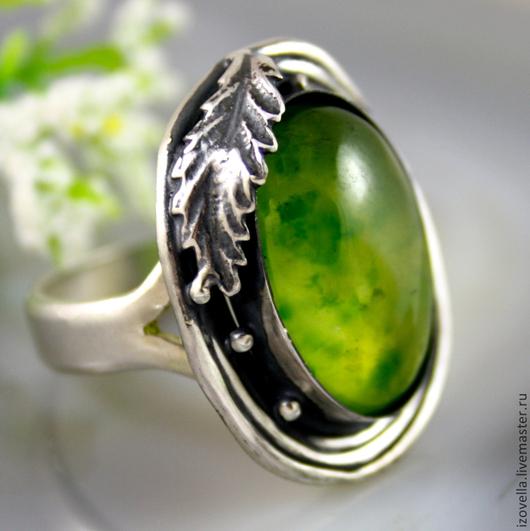 """Кольца ручной работы. Ярмарка Мастеров - ручная работа. Купить Кольцо """"Везувий"""" — везувиан гроссуляр, серебро 925. Handmade."""