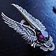 """Кольца ручной работы. Ярмарка Мастеров - ручная работа. Купить Кольцо """"Ангел"""" Александрит. Handmade. Ангел, кулон, серебряный"""