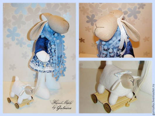 Куклы Тильды ручной работы. Ярмарка Мастеров - ручная работа. Купить овечка. Handmade. Овечка Тильда, овечка, флис, бархат