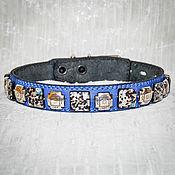 """Для домашних животных, ручной работы. Ярмарка Мастеров - ручная работа """"Мурано в синеве"""" - ошейник для собак. Handmade."""