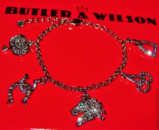 """Винтажные украшения. Ярмарка Мастеров - ручная работа. Купить Браслет """"Верховая езда"""" от Butler & Wilson (Великобритания). Handmade. Браслет"""