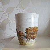 """Посуда ручной работы. Ярмарка Мастеров - ручная работа Чашка """"Рим. Величие города"""". Handmade."""