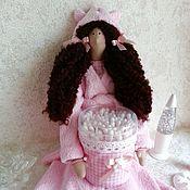 Куклы и игрушки handmade. Livemaster - original item Tilda - holder of cotton sticks. Handmade.