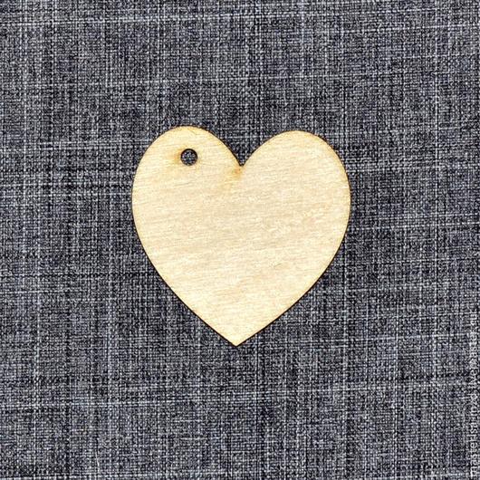 Заготовка для декупажа. БР-001. Набор бирок `Сердце`. Чтобы убрать отверстие или добавить надпись, напишите уточняющее сообщение менеджеру.