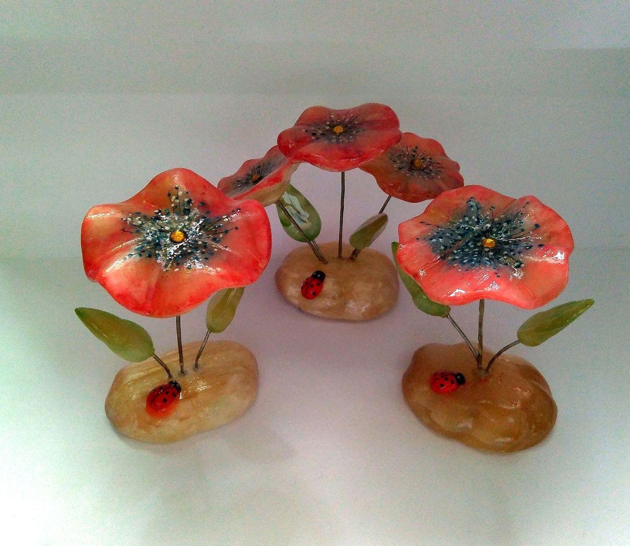 Flower from natural Ural ornamental stone Selenite, Figurines, Horde,  Фото №1